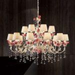 """Imponerende hængelampe """"Fiore"""" m. 15 lyskilder"""