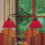 SORENT hængelampe med røde skærme
