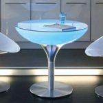 LOUNGE Table Indoor rundt lysbord, 75 cm