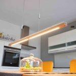 Træ og beton – LED hængelampe Kati, 118 cm