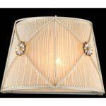 Væglampe Lea med smukke krystalblomster