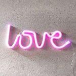 LED-skrift Love, USB, batteridrevet