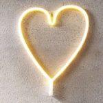 LED-dekorationslampe Heart, USB, batteridrevet