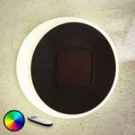 LED-solcellelampe Benka i skiveform, rund, 20 cm