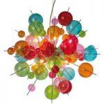 Farverig glaspendellampe Aurinia