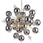 Hængelampe Wakusei af glas 65 cm krom