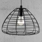 Esk – hængelampe med åben metalskærm