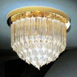 24 K forgyldt loftlampe Punta i krystal