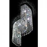 Loftlampe med svungne former Shine, i krystal