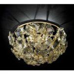 Blomsteragtig loftslampe Lotus i Murano glas