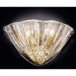 Forgyldt med 24-karat guld – glasvæglampen Alba