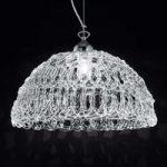 Transparent glas-hængelampe Cobweb
