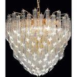 Forgyldt hængelampe Pioggia, 55 cm diameter