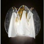 Glasagtig væglampe Rondini med 24-karat guld