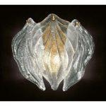 Eksklusiv glas væglampe Foglie af Murano-glas