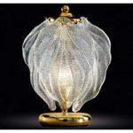 Eksklusiv glas bordlampe Foglie af Murano-glas