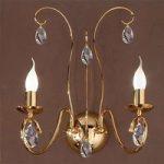 Graciøs FIORETTO væglampe i guld med to lys