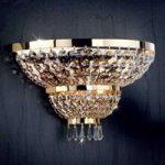 SHERATON væglampe forgyldt med 24 karat