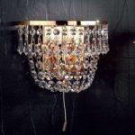 SHERATA krystalvæglampe i guld