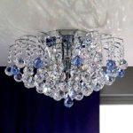 LENNARDA krystalloftlampe i blått og krom