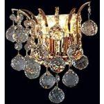 LENNARDA krystal-væglampe i guld