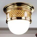 Elegant ALT WIEN messing-loftlampe i Art Nouveau s