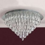HELENE loftlampe med blykrystaller 75 cm