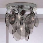Pyntende røgglas – loftslampen Carolo, 4 lysk.