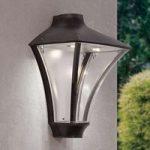 Klart lysende LED-udendørsvæglampe Rigon, IP65