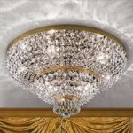 Forgyldt krystal loftslampe Sheraton