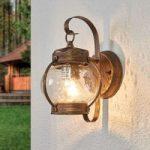 Rund udendørsvæglampe Margerite
