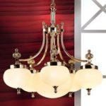 Imponerende hængelampe Ophelia med glasskærm