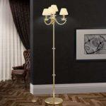Elegant krystal standerlampe Avala – 24 karat guld