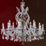 Krystallysekrone Maria Theresia, 18 lyskilder