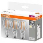 LED filamentpære E27 6W, varmhvid, 3'er sæt