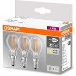 LED filamentpære E14 4 W varmhvid, 3'er sæt