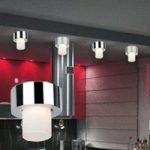 VIPER lille loftslampe, krom