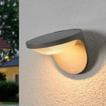 Grå solcelle LED-udendørslampe Dusk