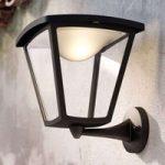 Sort LED-udendørs væglampe Cottage
