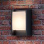 Antracitfarvet LED-væglampe Arbour
