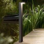 L-formet LED gadelampe Bustan i aluminium