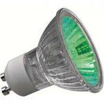 GU10 50W halogen reflektorpære Truecolor, grøn