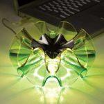 LED-designer bordlampen Flamenca i grøn