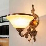 RIALTO vidunderlig væglampe glas rav