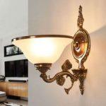 RIALTO vidunderlig væglampe glas hvid