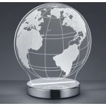 Med 3D-effekt – LED-bordlampe Globe, justerbar