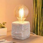 Bordlampe Stone af hvidt marmor