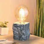 Bordlampe Stone af gråt marmor