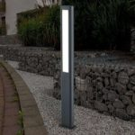 LED-gadelampe Mhairi, firkantet, mørkegrå, 100 cm
