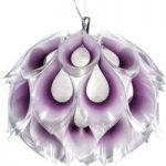 Skinnende pendellampe Flora M, lilla